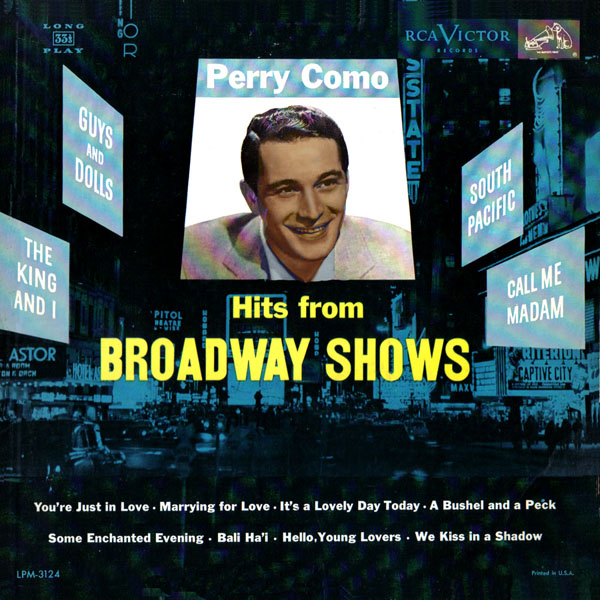 Perry Como ~ Hits From Broadway Shows