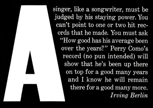 Irving Berlin Quote