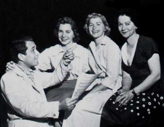 Perry with the three Fontane Sisters