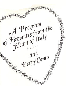 Perry Como In Italy - 1966