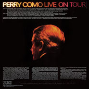 Perry Como Live On Tour ~ Album Notes & Back Cover