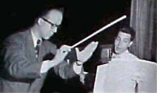 Lloyd Shaffer conducts circa 1947